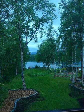 Alaska's Lake Lucille Bed & Breakfast: The view from our room