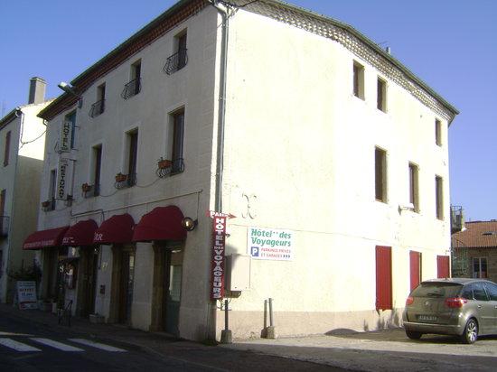 Langogne, France : Hôtel vu de la rue