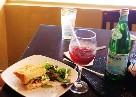 Paninoteca Mediterranean Cafe: chicken pancetta panini