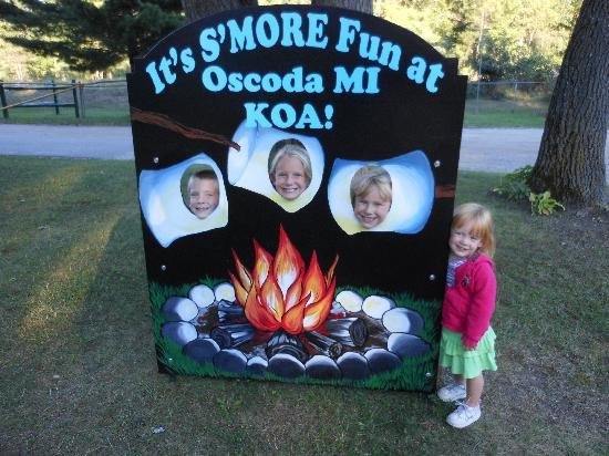 Oscoda KOA: Greeting sign