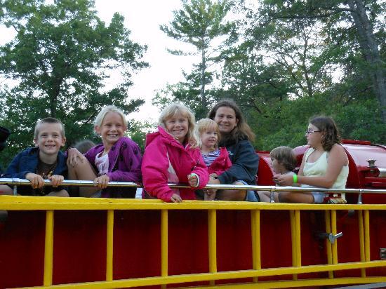 Oscoda KOA : FREE fire engine ride