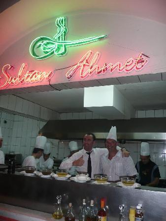 Sultan Ahmet Restaurant: tour round the kitchen