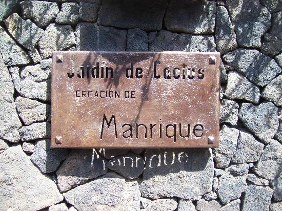 Lanzarote, Espagne : jardin de cactus