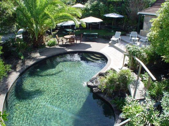 Motel Russell: swimming pool set in subtropical garden