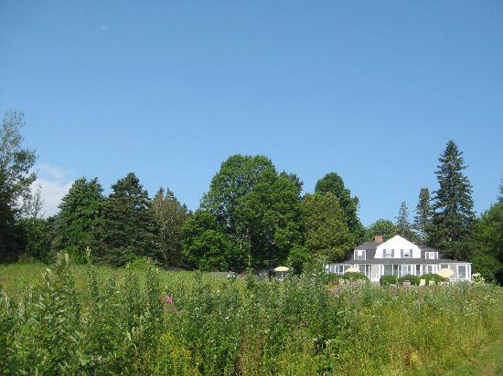 High Tide Inn: Main inn and wildflower meadow