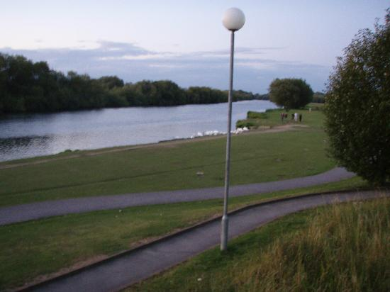 Reading, UK: View from the WWC campground