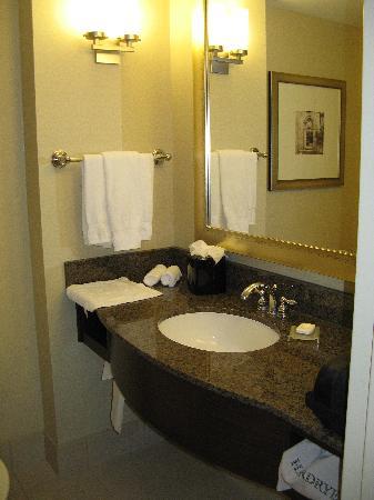 هيلتون جاردن إن بيثيسدا: Bathroom room 509