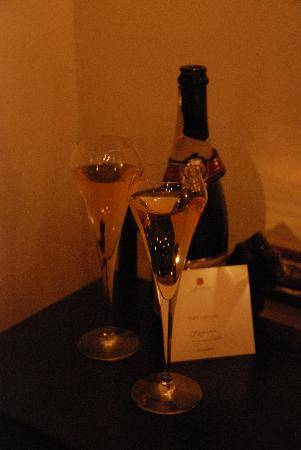 Zacosta Villa Hotel: The complimentary champagne provided by John for our honeymoon!