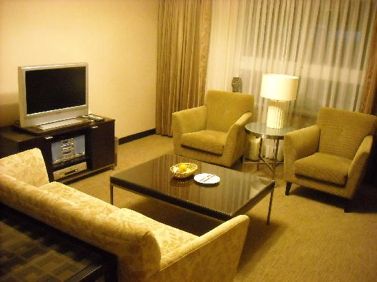 Hsinchu, Taiwan: ソファーのある部屋(スイート?)