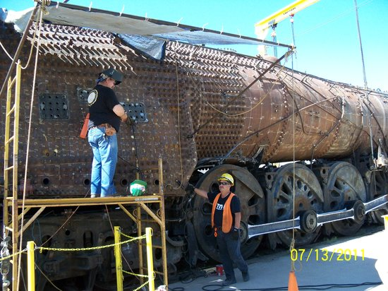 New Mexico Steam Locomotive and Railroad Historical Society: Locomotive being worked on