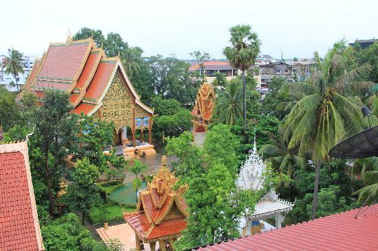 Salana Boutique Hotel: view from our balcony to next door temple