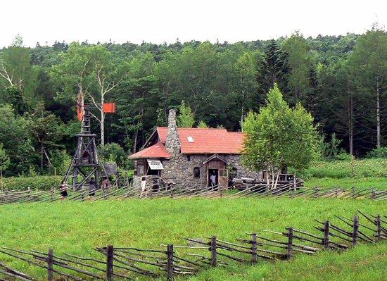 Goro's Stone House: 森を抜けると、いきなりこの風景が・・・