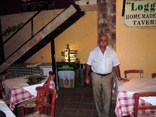 Loggia Taverna Restaurant : Hyggelig mottagelse