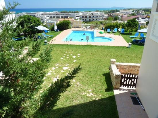 Panthea Suites: pool , garden and views