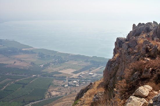Tiberias, Israel: view from Arbel