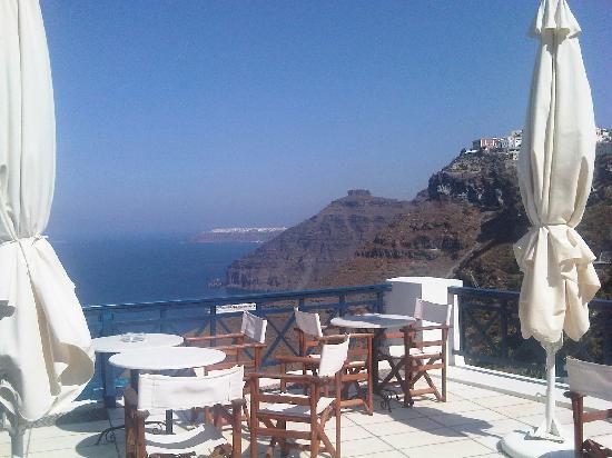 Santorini Reflexions Volcano: vista dal balcone della colazione