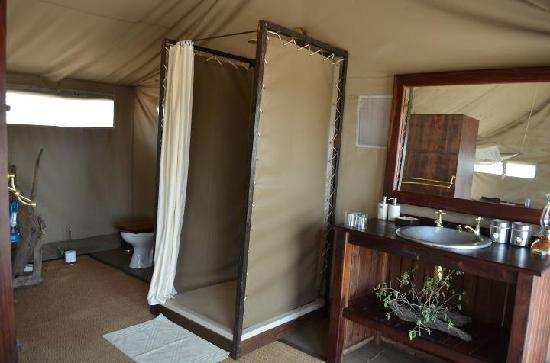Linyanti Bush Camp - African Bush Camps: Tent bathroom