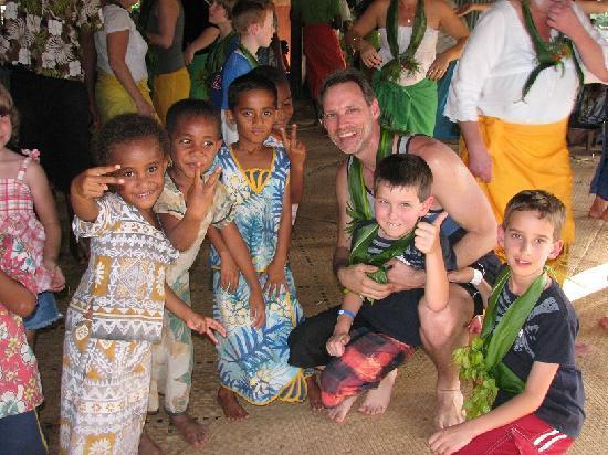 Sigatoka River Safari: With the village kids