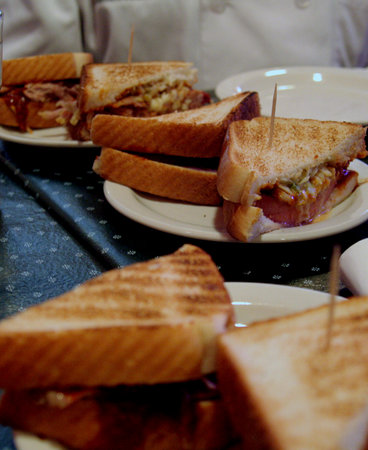 Tastin' 'Round Town: Fried Bologna sandwich (one of the larger tastes)