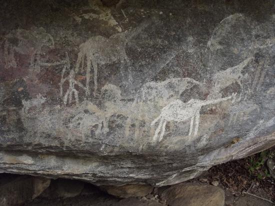 Kondoa Rock-Art Sites: PAHI site, white rock art