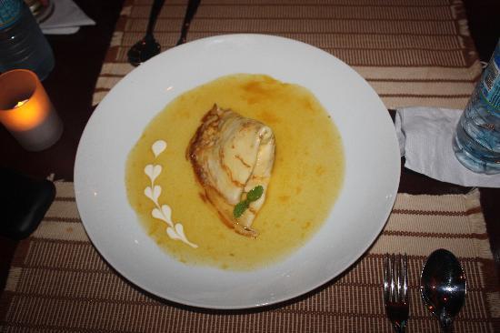 Restaurante X: Nagerecht: crepe Java, vernoemd naar de dochter van de chef