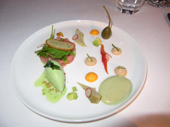 Hotel Recour: Six-course gourmet menu: our starter.