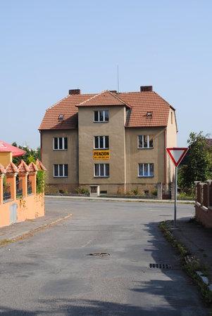 Penzion U Novaku: View from the street.