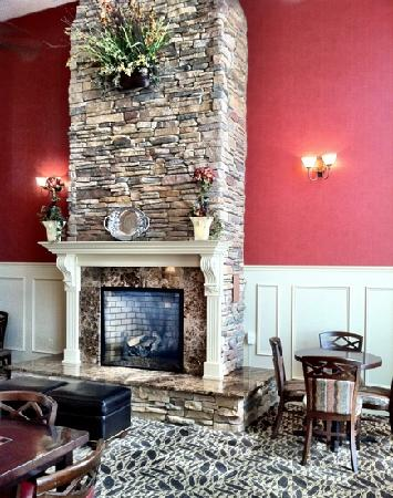 Hampton Inn & Suites Montgomery-East Chase : cozy fireplace...bet that would be great in cool weather!