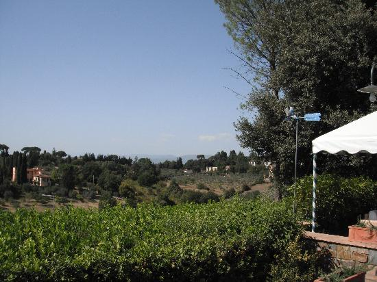 Artviva: The Original & Best Tours Italy: view from the pool (and a tiny corner of the cabana)
