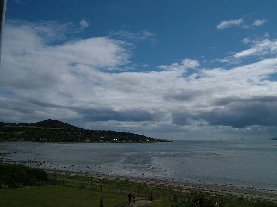 Marine Hotel : View to Howth Summit - hotel lawn at bottom of picture