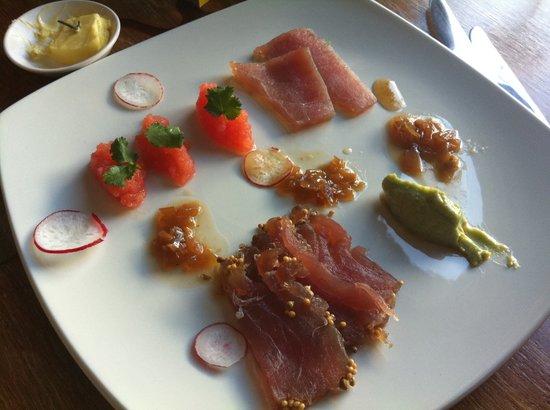 Reuben's: Cured and Raw Tuna