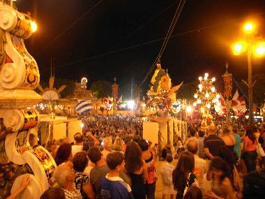 The main square on Saturday night