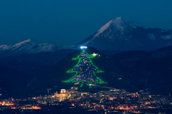 فونتيسيسي: albero di natale piu grande del mondo