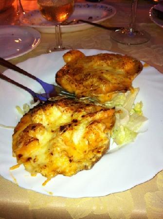 Restaurante Playa Bella: shell gratened - best !