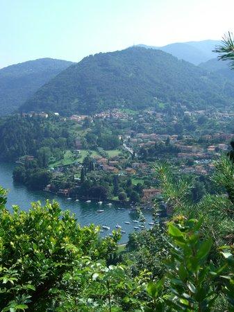 Parco di Villa Serbelloni: Panorama towards Bellagio village