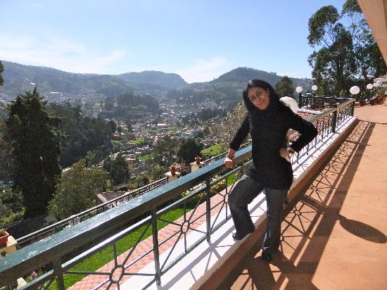 Gem Park-Ooty: On the balcony overlooking the valley.