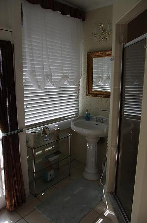 Casa de Suenos Bed and Breakfast: The bathroom:  Right Side (shower and sink)