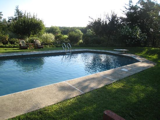 Thyme in the Country : Early morning at the pool