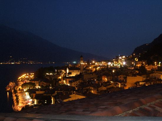 Hotel Castell: View of Limone form our Balcony at night