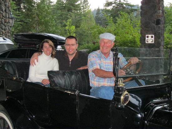 Tin Lizzie Inn: David gave us a ride to dinner