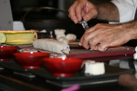 Paradisus Princesa del Mar Resort & Spa: Sushi Making