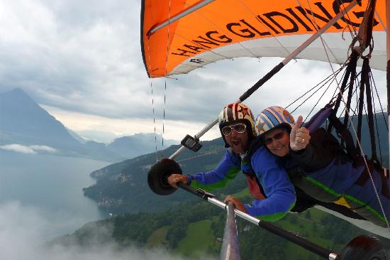 Hang Gliding Interlaken: Bernie and the old bird............me!