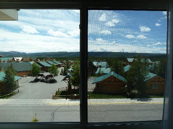 Yellowstone Lodge: Blick aus dem Fenster