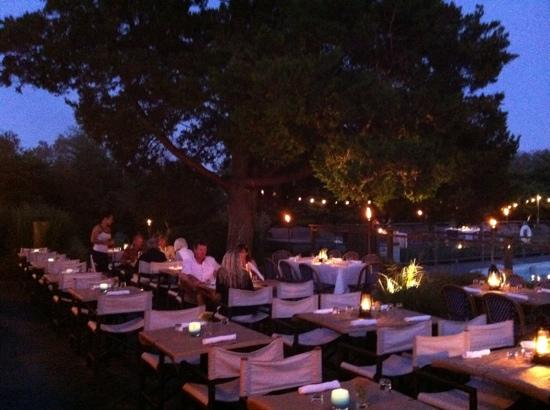Charmant Backyard Restaurant: Outdoor Seating On The Pool Patio