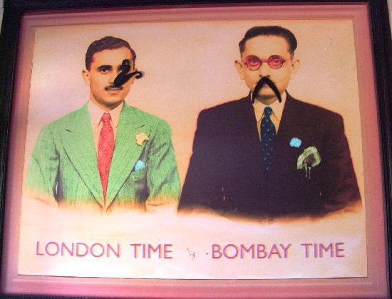 Dishoom Chowpatty Beach Bar : The time-telling mustachioed gentlemen