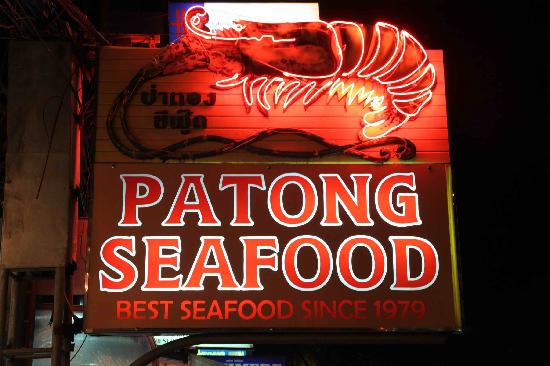 Patong Seafood: the sign board