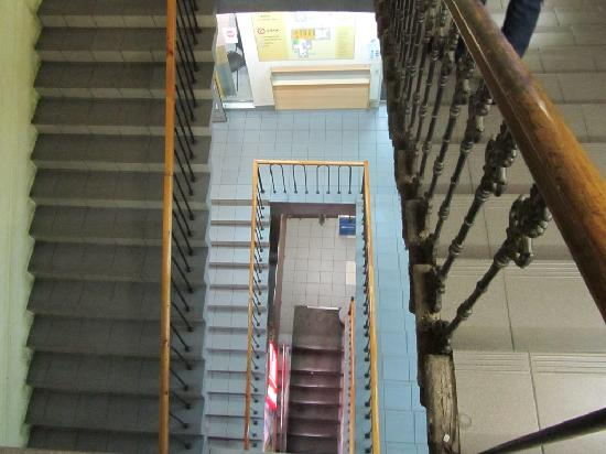 Nevskiy Central Hotel: Stairs to get to the hotel entrance