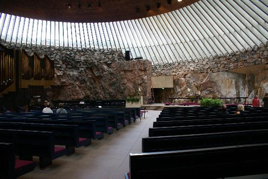 Église Temppeliaukio d'Helsinki : Interior of church