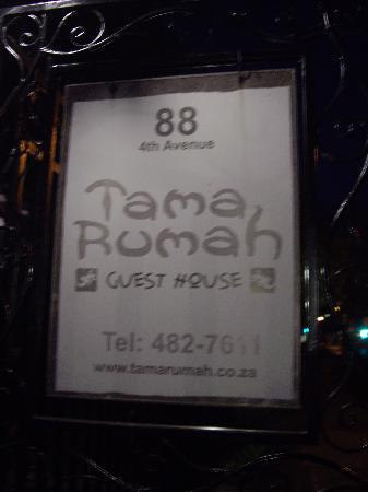 Tama Rumah: the sign