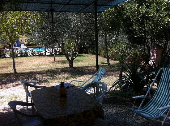 """Agriturismo La Fonte: Vista dalla veranda dell'appartamento """"OLIVO B""""."""